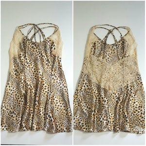 Victoria's Secret Leopard Lace Chemise